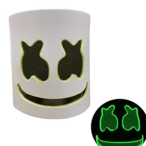 smzzz Halloween Maske LED,mit 3 Blitzmodi für Halloween Fasching Karneval Party Kostüm Cosplay Dekoration (Drei Ist Company Halloween Kostüm)