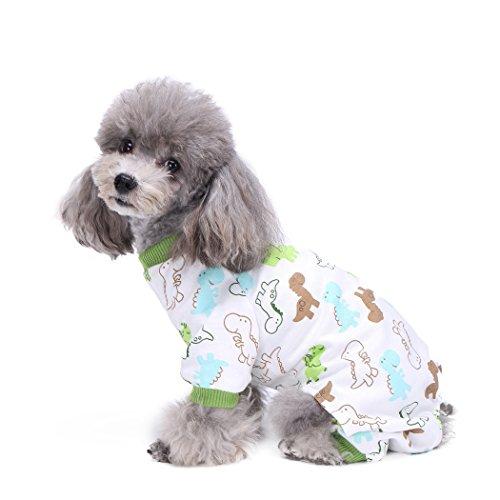 Smoro Niedlicher Hund Kleidung Pyjamas Mantel Overall Welpe Strampler Baumwolle 20 Muster / 5 Größen
