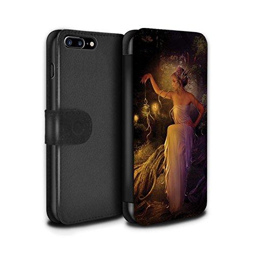 Officiel Elena Dudina Coque/Etui/Housse Cuir PU Case/Cover pour Apple iPhone 7 Plus / Baiser de Lune Design / Un avec la Nature Collection Poussière de Lutin