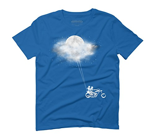 Told You I'll Bring You The Moon Men's Graphic T-Shirt - Design By Humans Royal Blue