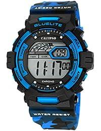 Calypso Hombre Reloj digital con pantalla LCD Pantalla Digital Dial y correa de plástico multicolor k5693/5