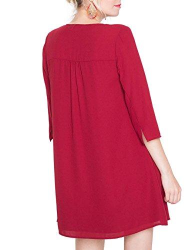 Cache Cache 6332001387, Vestito Donna Rosso (Rhubarb)