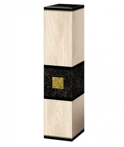 Geschenkverpackung Weinverpackung 1 Flasche Prestige Premium Faltschachtel Holzoptik & Holzhaptik Maße: 360 x 78 x 78 mm VE 50 St