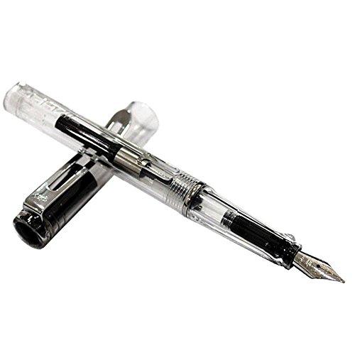 Kcopo Stahl Pen Transparenz Füllfederhalter Stahl Pen Typ Stärke Small Pen Transparent Mini Stift...