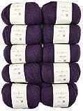 Rowan 500g Wollpaket, 10x50g soffili Yak, Fb. 3 Jewel, weiche Wolle aus Merino, Alpaka und Yak zum Stricken und Häkeln, Wolle Paket Restposten