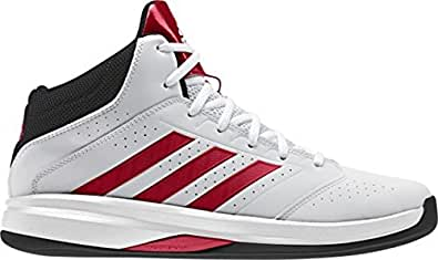 adidas  Isolation 2, Chaussures de Baseball homme - - White / Scarlet Red / Core Black, 50,7 EU