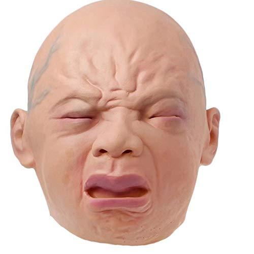 Promi Halloween Partys - QYCL Halloween Masken Lächeln Weinen Maske