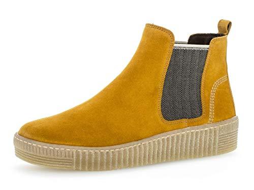 Gabor Damen Chelsea Boots 33.731, Frauen Stiefelette,Stiefel,Halbstiefel,Bootie,Schlupfstiefel,flach,Herbst/beige(Natur,40.5 EU / 7 UK