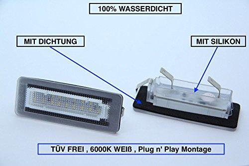 2 x Top Module SMD LED 18 LEDs Kennzeichenbeleuchtung Nummernschildbeleuchtung (217) -