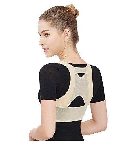 Drizzle Corrector de Postura Espalda Mujer mejorar el jorobado Ajustable Soporte de Espalda Alivie el Dolor de Cuello y Hombro (L)