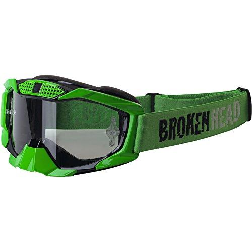 Broken Head MX MX-1 Goggle I Motorrad-Brille Für Motocross, Enduro, Downhill, Offroad I Mit UV-Schutz I Grün-Schwarz