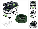 Festool Absaugmobil CTL MINI I CLEANTEC glatter Saugschlauch 27/32 x 3,5 m-AS/CT, mit Bluetooth Funktion, Sys Dock mit T-LOC