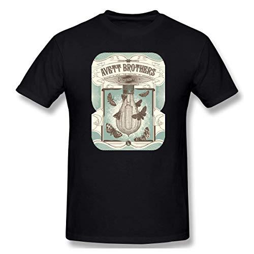 Herren Rundhals Basic Kurzarm T-Shirt Avett Brothers Cotton Casual Top Schwarz 6XL
