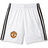 adidas Mufc H Sho y Pantalón Corto 1ª Equipación Manchester United Fc, Niños, Blanco (Blanco/Negro), 164 (13/14 Años)