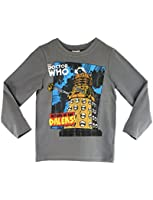 Doctor Who Boys Dr Who Long Sleeve T-shirt Ages 5 to 12 Years