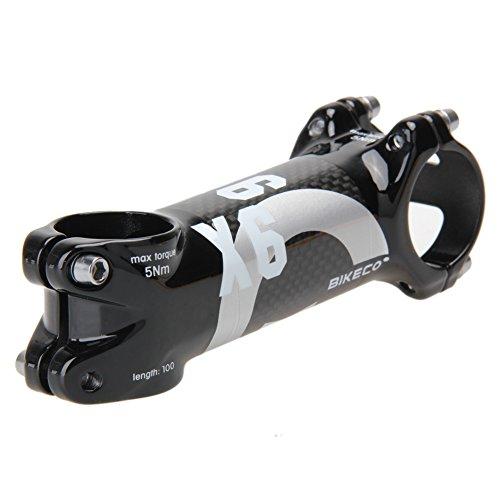Domybest bikeco Lenker mit 3K Karbonfaser Ultralight Vorbau (Grau) (100mm) (Mm Vorbau 100)