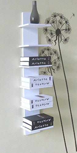 Yelloo Étagère à livres design en MDF Blanc Mod.CONCEPT
