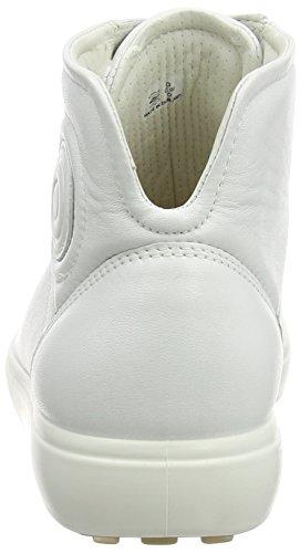 Ecco Ladies Soft 7 Ladies High Top Bianco (bianco 1007)