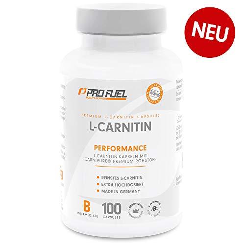 L-CARNITIN | 100% Carnipure® - Weltweit No.1 | 2000mg | Perfekt für Kraft- & Ausdauersportler | 100% vegan | Made in Germany | 100 Kapseln