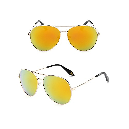 manyip Lunettes de soleil Lunettes de sport Sunglass Lunettes de soleil rétro UV Block éviter (Ju 936), C