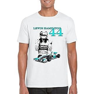 F1 Lewis Hamilton 44 Grand Prix F1 Motorsport Formula 1 Racing Driver T-Shirts (Medium)