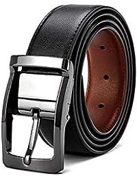 VICSPORT Cintura Uomo Della Cinghia di Pelle Fibbia Antik Cintura Casuale
