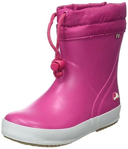 Viking Alv, Bottes en caoutchouc non-fourrées, tige basse mixte enfant - Rose - Pink (Fuchsia 17), 27