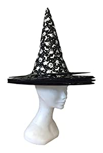Joker jh028-a-Sombrero bruja Halloween, Plata