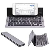 Un-Tech Foldable Wireless Bluetooth Keyboard with Kickstand F18 for iPhone, iPad, Andriod Cellphone