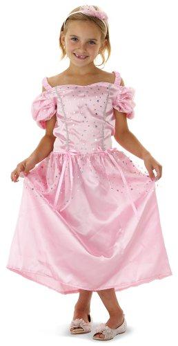 Prinzessin Kleid inklusive Diadem für Mädchen mit 6-9 Jahren (Größe: 122/128/134) // Prinzessinnen Dress Tiara Princess Fasching Verkleidung Verkleiden Karneval Kostüm Rosa Pink Cinderella Aschenputtel Aschenbrödel Cinderellakostüm Kostüm Ballkleid Mädchenkostüm (Fee In Kostüm Aschenputtel)