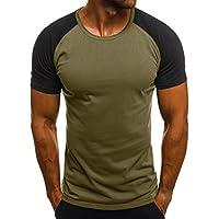 JiaMeng Moda Casual Camuflaje Delgado Impreso Manga Corta Camiseta Top  Blusa Camiseta de Camuflaje Hombre Militares 7018e9b971c58