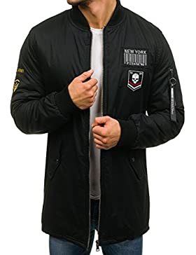 BOLF Hombre Chaqueta de Entretiempo Bomber Estilo Urbano 4D4