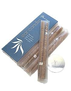 Sacred Soul Hopi Ear candele Therapist standard–Cera d' api profumata, aroma con filtri e dischi Protector (3coppie)