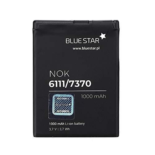Blue Star Premium - Batería de Li-Ion litio 1000 mAh de Capacidad Carga Rapida 2.0 Compatible con el nokia 6111/7370/n76/2630/2760/n75/2600 classic