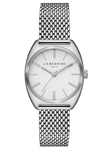 Liebeskind Berlin Damen Analog Quarz Uhr mit Edelstahl Armband LT-0050-MQ
