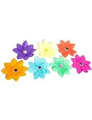 Fleurs de lotus flottantes en papier + bougie - lanternes de commémoration Pack de 10