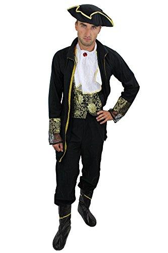 Halloween Soziale Kostüme (Detailreiches Komplettset: Herrenkostüm Kostüm Herren Barock Pirat Edelmann Gr. 48,)