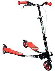 Charles Bentley Mini Scooter velocidad de movimiento de esquí de 3 ruedas Drifter Grip Break - Red