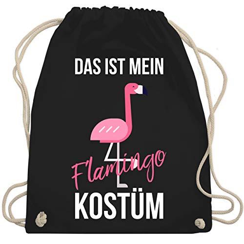 Karneval & Fasching - Das ist mein Flamingo Kostüm - Unisize - Schwarz - WM110 - Turnbeutel & Gym - Einfache Last Minute Kostüm Kinder