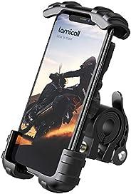 Lamicall Soporte Movil Bicicleta, Soporte Motocicleta - Rotación 360° Soporte Manillar para iPhone 12 Mini, 12