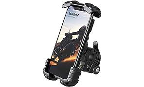 "Lamicall Soporte Movil Bicicleta, Soporte Motocicleta - Rotación 360° Soporte Manillar para iPhone 12 Mini, 12 Pro Max, 11 Pro, XS Max, X, XR, 8, 7, 6S, Samsung S10 S9 S8, Huawei, 4.7-6.8"" Smartphones"