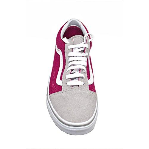 Vans UA Old Skool, Sneakers Basses Femme Drizzle/Sangria
