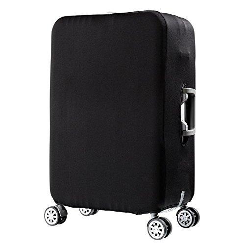 Housse de valise Protection de valise de voyage Housse de protection de valise de voyage avec spandex transparent antipoussière élastique Convient à un petit bagage de 19 à 32 po (23-25 po) - Noir