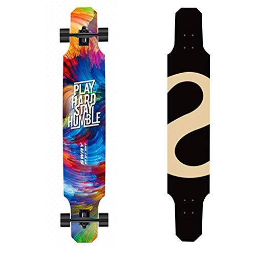 HJUOS 47-Zoll-Premium-Freestyle-Longboard-Skateboard, Cruiser-Skateboard für Erwachsene und Jugendliche, Upgrade-Skateboard für 2019 - Penny Board-lager