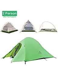 Naturehike Tente de randonnée 2–3personnes 4saisons double couche, tige ultralégère en aluminium, anti UV coupe-vent imperméable