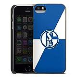 DeinDesign Holz Hülle kompatibel mit Apple iPhone 5 Wooden Case Echtholz Handyhülle Bundesliga FC Schalke 04 Offizielles Lizenzprodukt