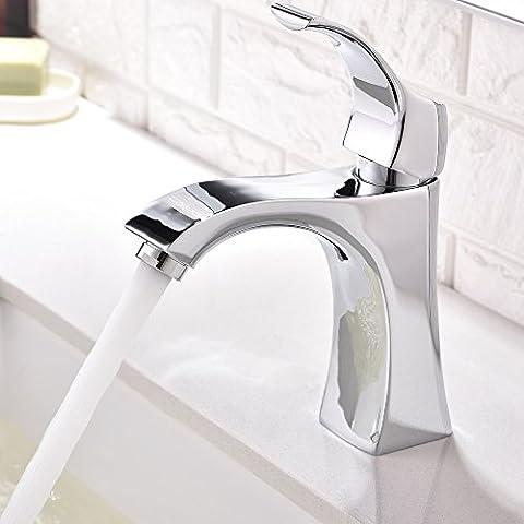Witsinhome Modern Bathroom Single Handle Single Lever One Spout Chrome