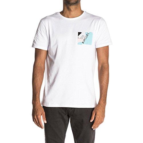 Rip Curl Herren T-Shirt Break Brush Tee Weiß (Optisches Weiß)
