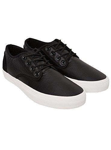 oodji Ultra Herren Lederimitat-Schuhe Basic, Schwarz, 45 EU / 10.5 UK