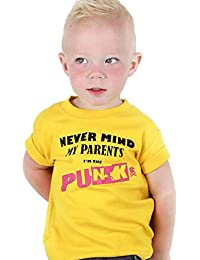 e2c3184fcc1db Baby Moo's Punk Baby & Kids T-Shirt for Boys or Girls | Never Mind The  Parents I'm The Punk - Pistols Child's/Baby T Shirt…